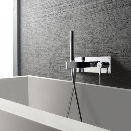 Ensemble mitigeur bain/douche encastré TIME - TIME_out, 4 finitions