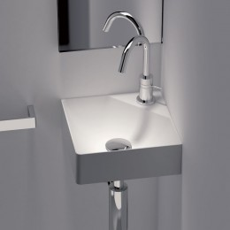 Lave-mains d'angle 30x30 cm FANCY en Solid Surface_P2