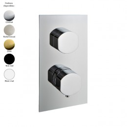 Mitigeur thermostatique douche encastré 1 sortie, design HEDO de Treemme, 5 finitions
